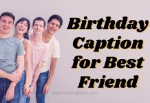 Birthday Caption for Best Friend